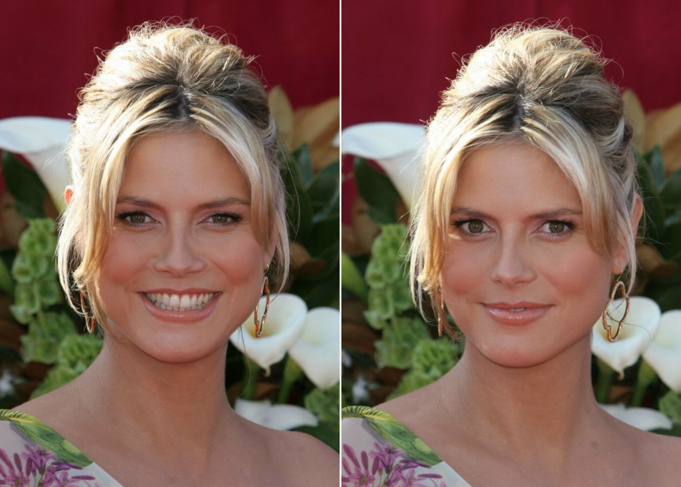 Heidi Klum Hair Styles: Heidi Klum Wearing Her Hair Up In A French Twist