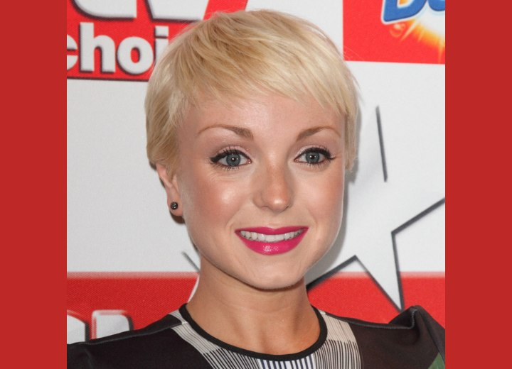 Helen George | Short feathery pixie for fine hair