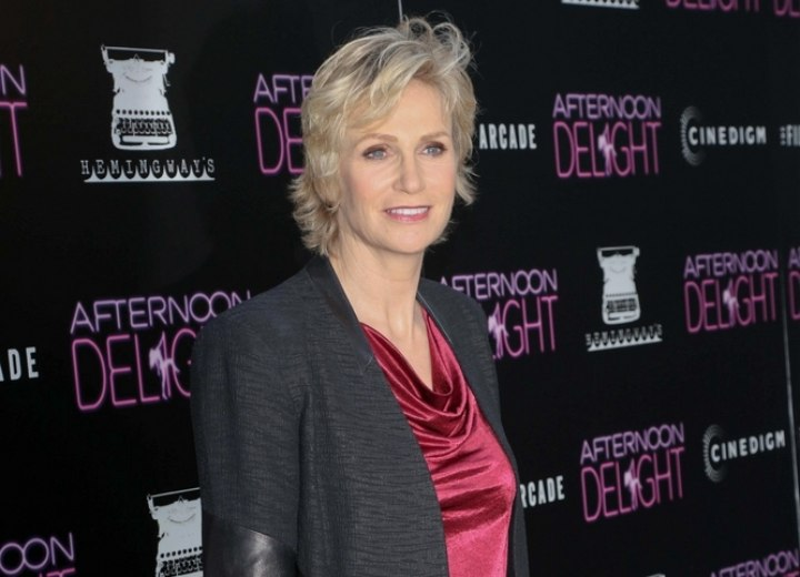 Jane Lynch - Pixie with longer hair in the neck