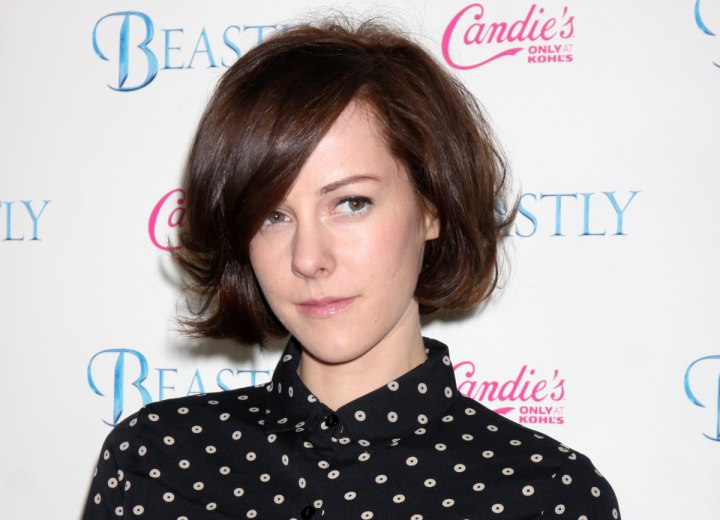 Jena Malone - Prim and proper with a buttoned up blouse collar