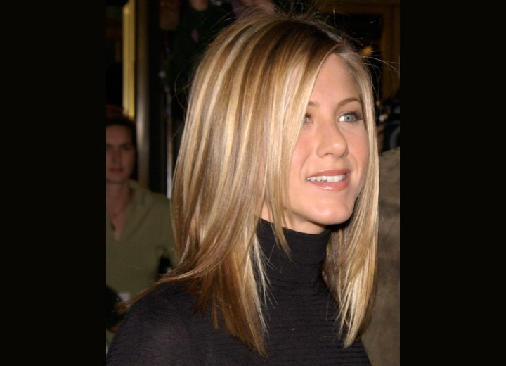 Jennifer Aniston - Hair with natural blended highlights