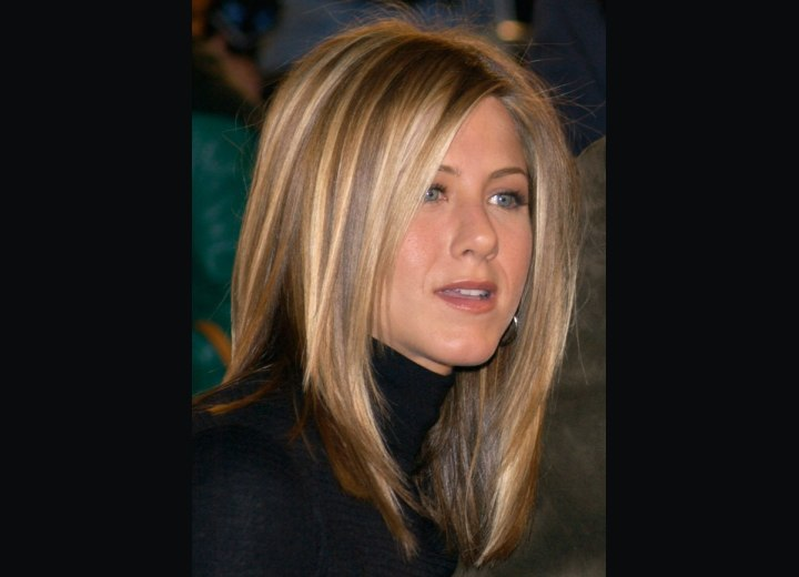 Side view of Jennifer Aniston's hairstyle