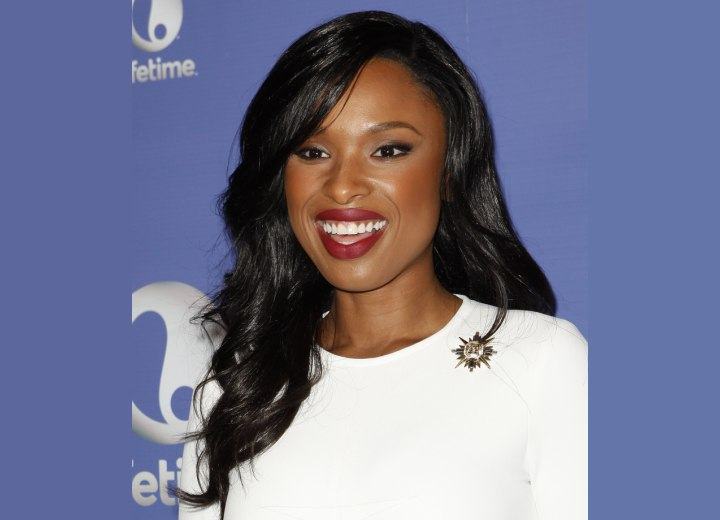 Jennifer Hudson with smooth and shiny long hair