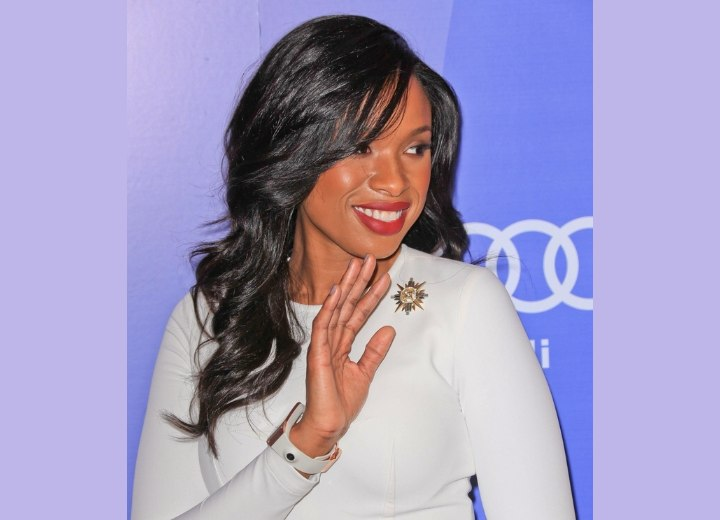 Jennifer Hudson - Long hairstyle for black hair