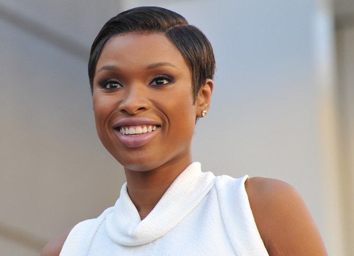 Jennifer Hudson sporting a pixie crop