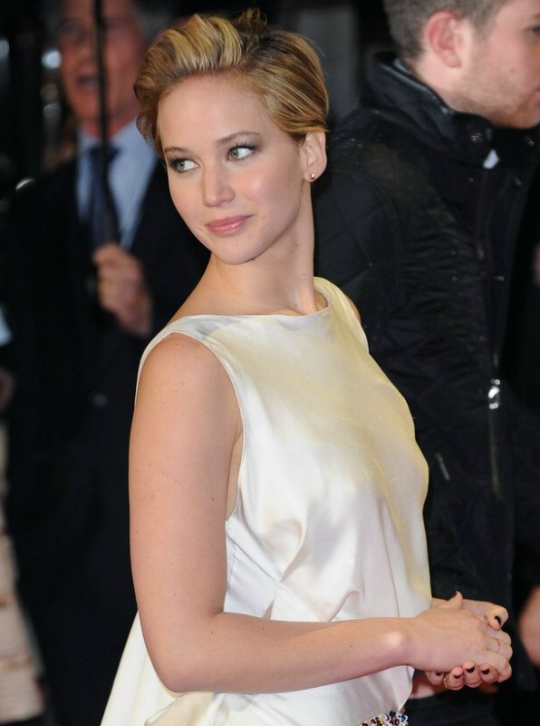 Jennifer Lawrence Hair Cut In A Pixie With A Short Tapered Neck