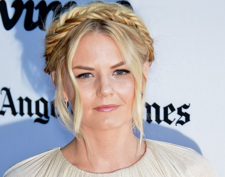 Updo with wrapped braids - Jennifer Morrison