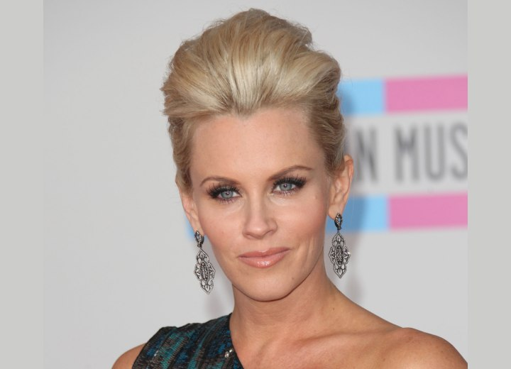 Jenny McCarthy wearing her hair up
