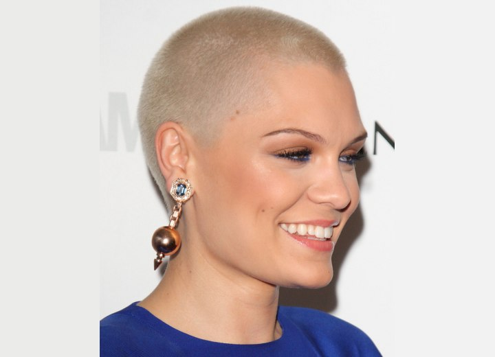 Jessie J with her head shaved