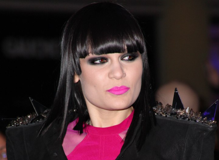 Jessie J hairstyle with mega sleek styling