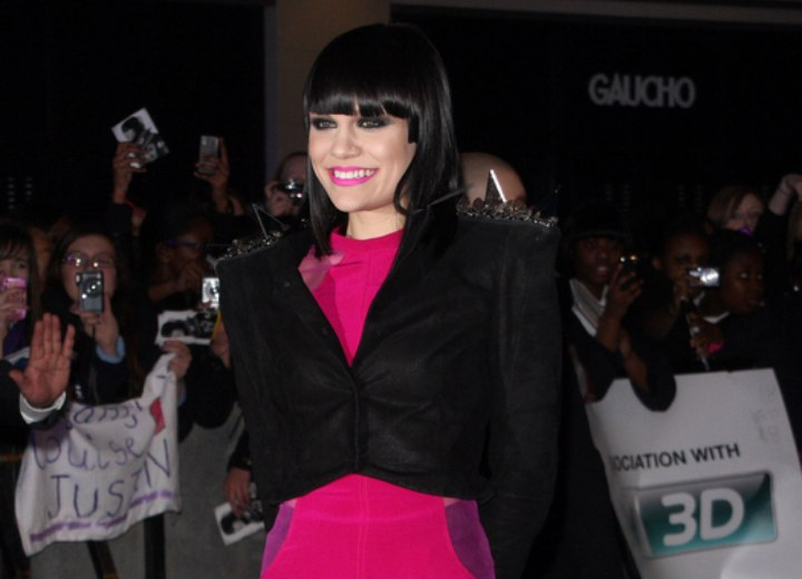 Jessie J look with a short dress and nylons