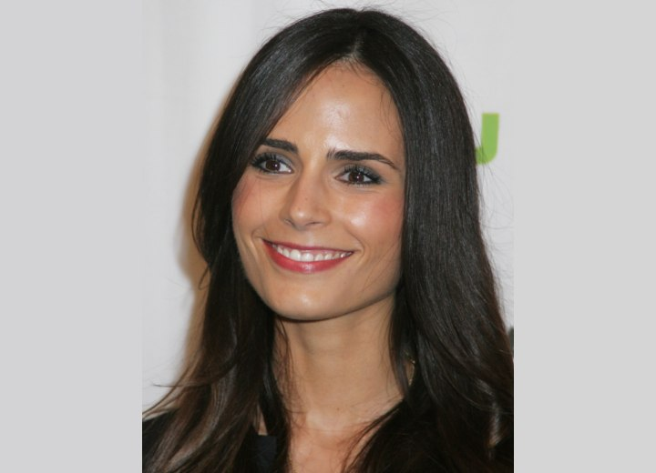 Jordana Brewster - Smooth long hairstyle with soft layers