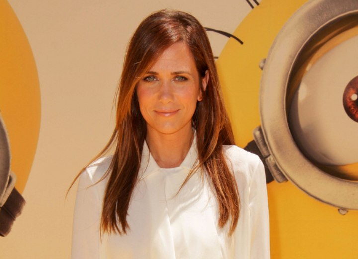 Kristen Wiig's youthful long hairstyle