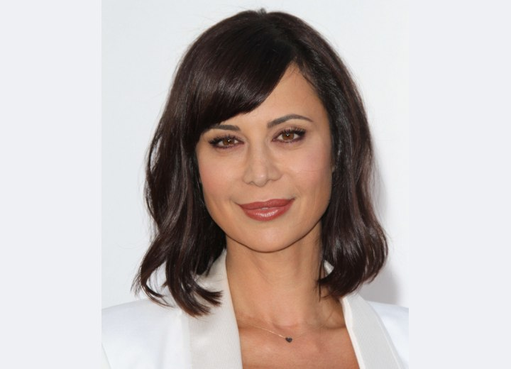 Catherine Bell - Long and wavy bob hairstyle