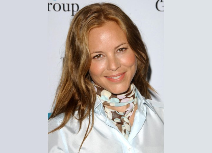 Maria Bello - Hair color that matches brown eyes