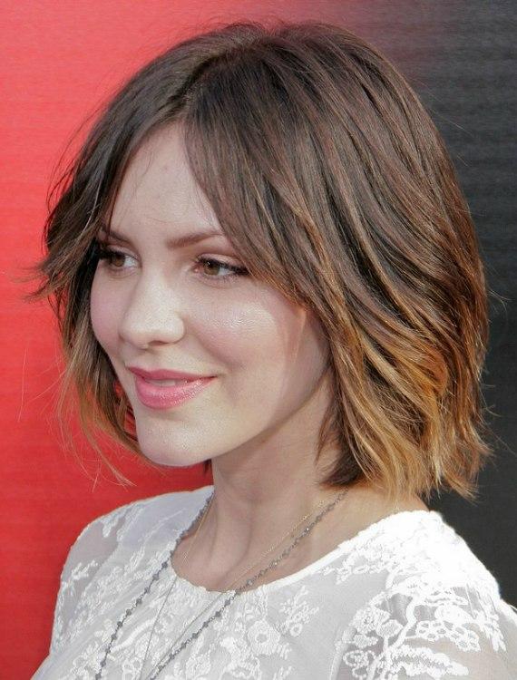 Katharine Mcphee Laid Back Medium Length Bob Hairstyle