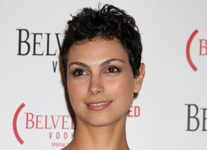 Morena Baccarin - Pixie with sexy messy styling