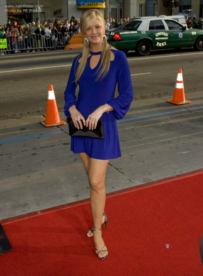 Nancy O Dell Long Hair With A Veil Of Fringe And