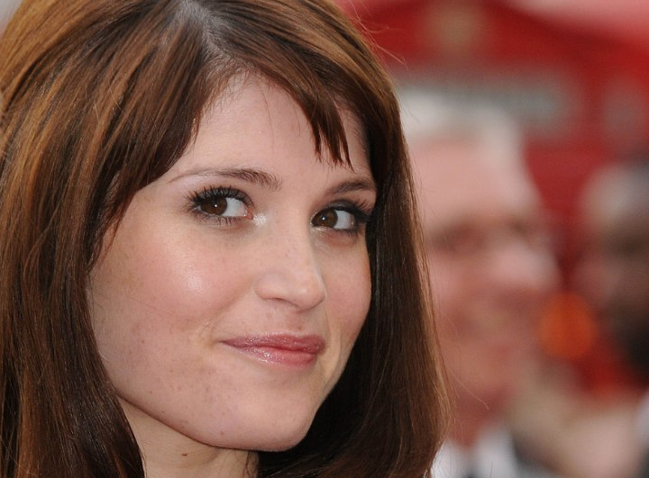 Close up photo of Gemma Arterton's hair and new growth