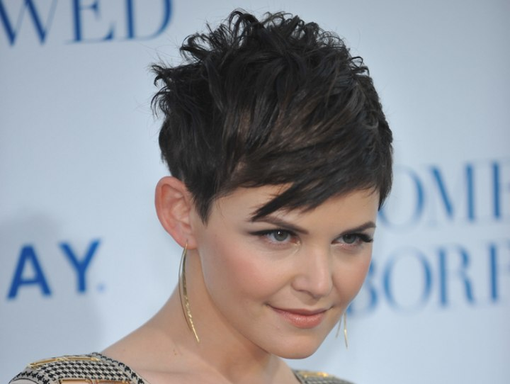 Ginnifer Goodwin - Short over the ears haircut