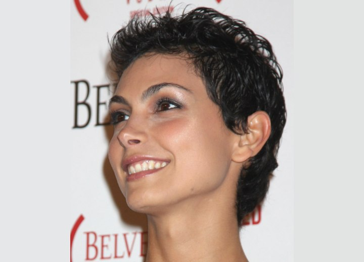 Morena Baccarin - Trendy and very short pixie