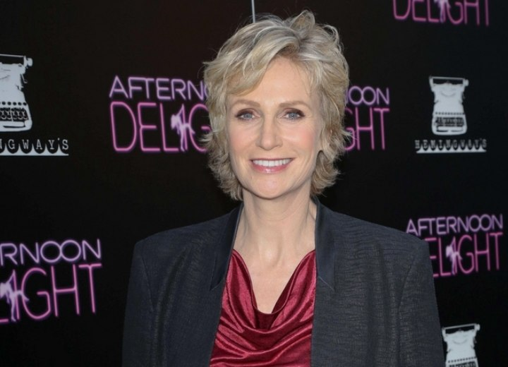 Jane Lynch Pixie Rejuvenating Short Hairstyle For A Lady Over 50