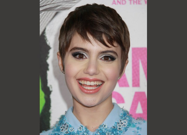 Sami Gayle sporting a sweet pixie haircut