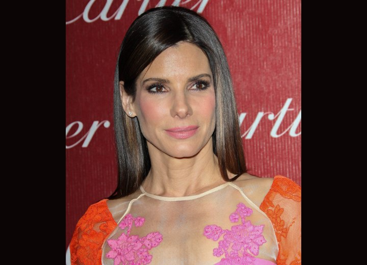 Sandra Bullock - Hair with a mirror like shine