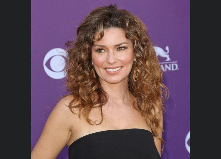 Shania Twain - Long hairstyle for a woman in her late 40s
