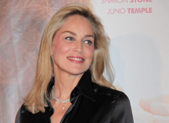 Hairstyle for a 55 year old woman - Sharon Stone