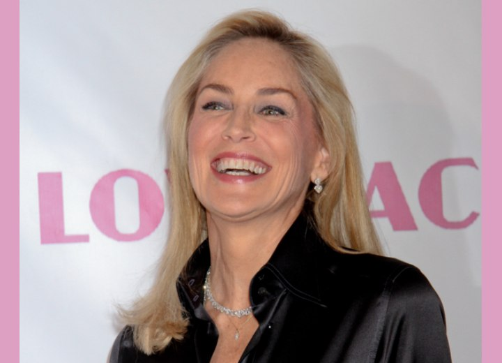 Light and fresh hairstyle for a 50 plus woman - Sharon Stone