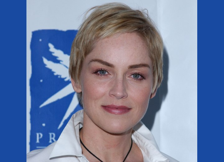 Sharon Stone's perfectly cut pixie