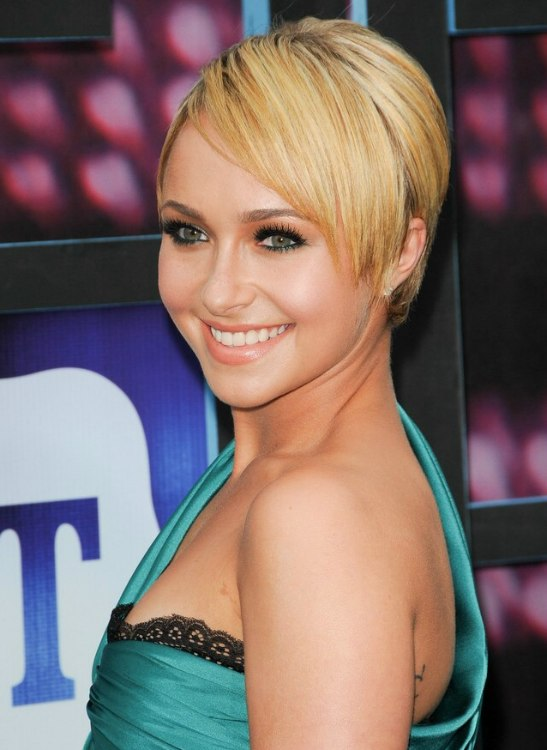Hayden Panettiere Straight Sexy Short Hairstyle With Tapering