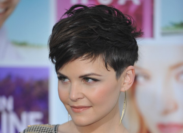 Ginnifer Goodwin - Short pixie haircut with a close nape