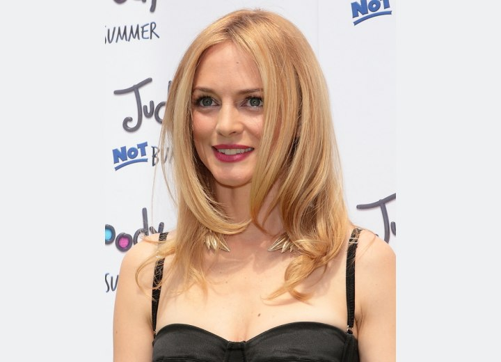 Heather Graham - Soft long hairstyle with layers