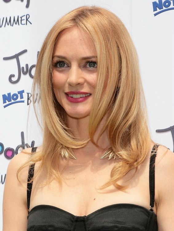 Heather Graham Long Hairstyle For Fine Blonde Hair With Warm Tones