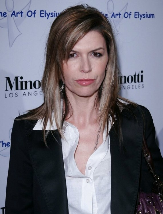 Finola Hughes - Long hairstyle with staggered layers and jagged ...