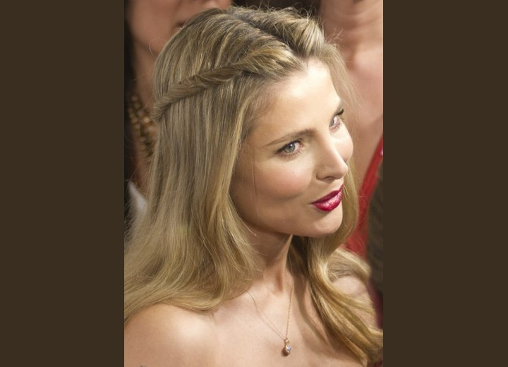 Elsa Pataky - Long hairstyle with twisted ponytails