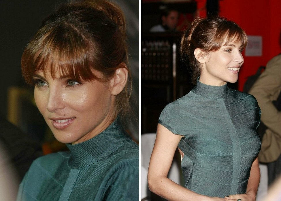 Elsa Pataky Young And Fresh Updo With The Hair Twisted