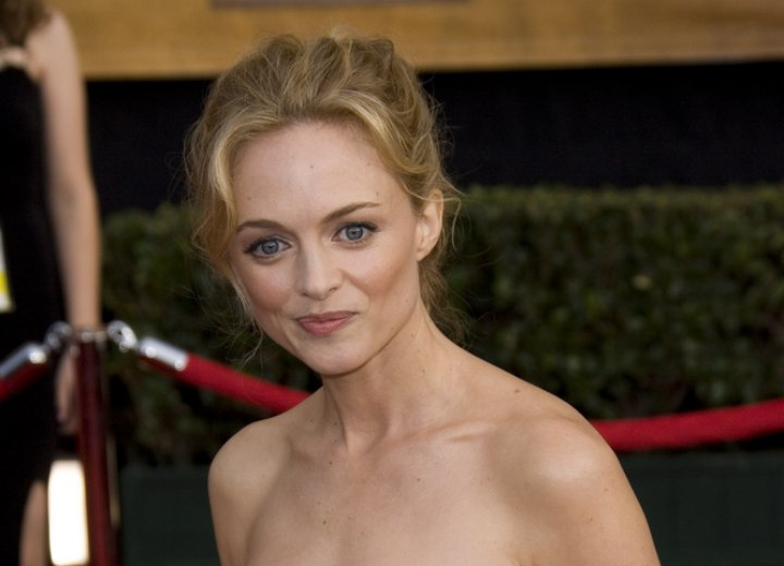 Updo for fine hair - Heather Graham