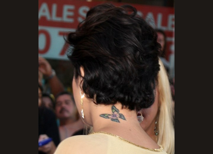 Back view of Vanessa Hudgens short hairstyle