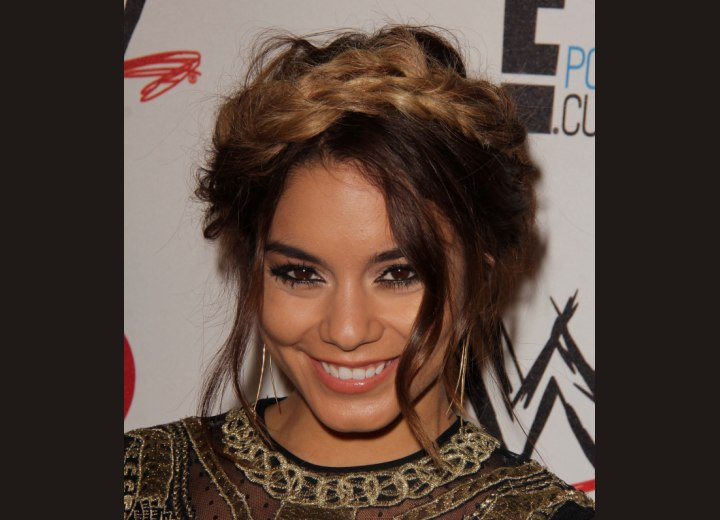 Vanessa Hudgens - Updo with wrapped braids