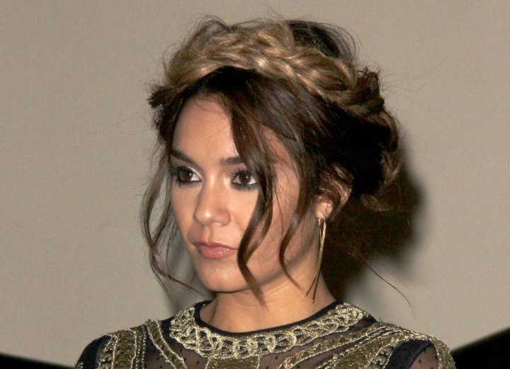 Vanessa Hudgens - Braids with an ombre effect