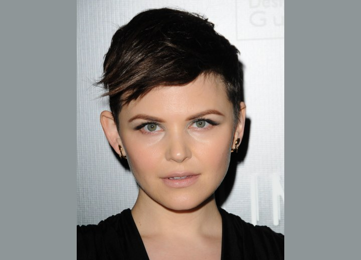 Ginnifer Goodwin - Very short and almost military haircut