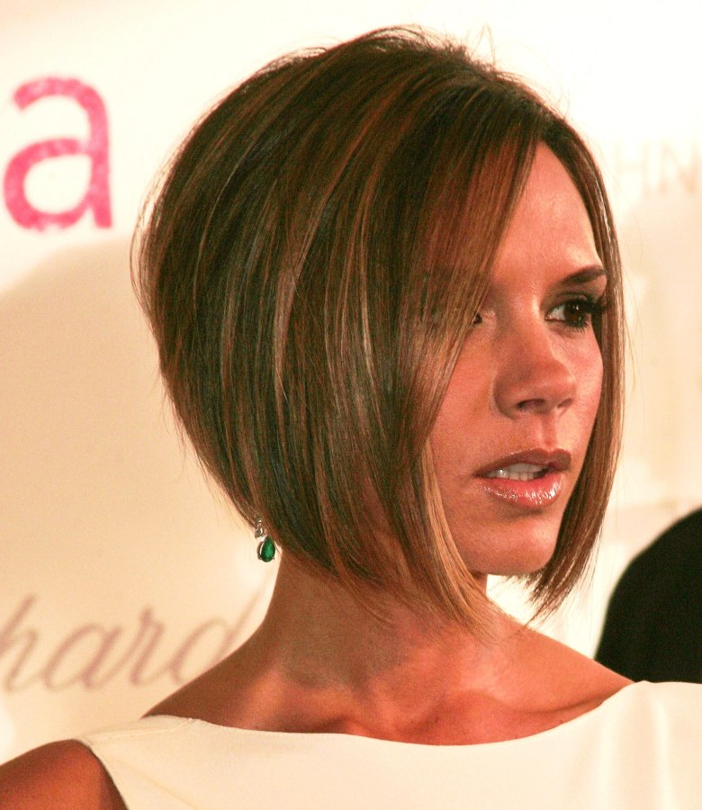 hair bob cut styles beckham hairstyles front back view hair 9397