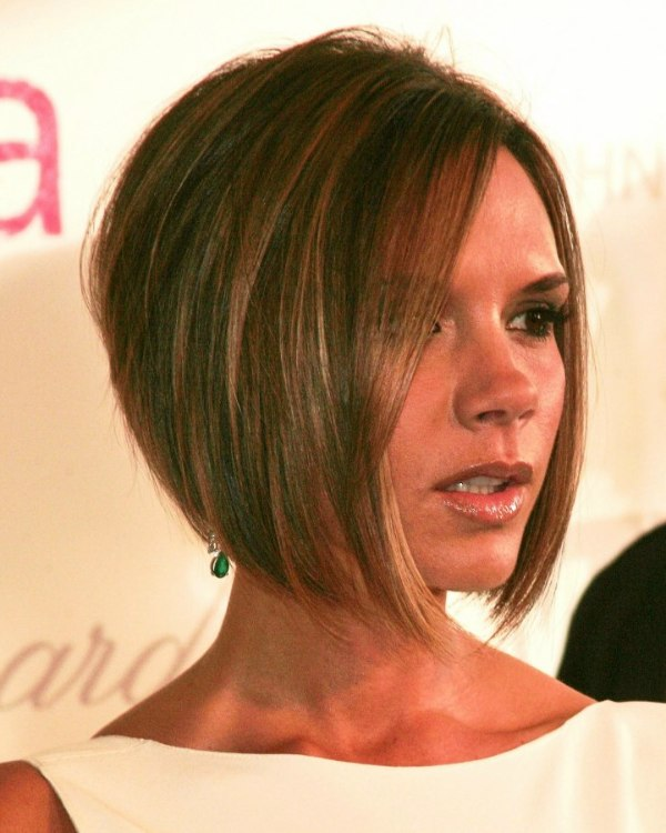 How To Style Hair Like Victoria Beckham Victoria Beckham  Longer In The Front Bob With A Stacked Nape