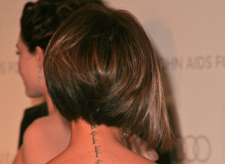 Victoria Beckham - Plunging bob with a tapered nape