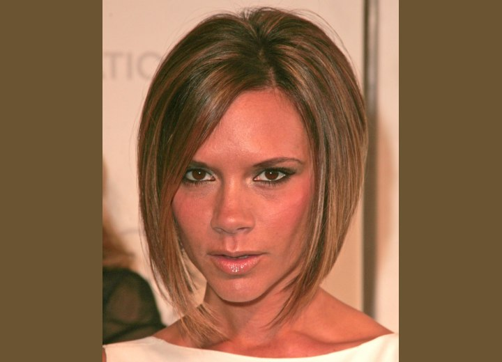 Victoria Beckham - Bob haircut with a longer front