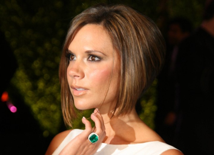 Victoria Beckham - Bob haircut with a short tapered neck