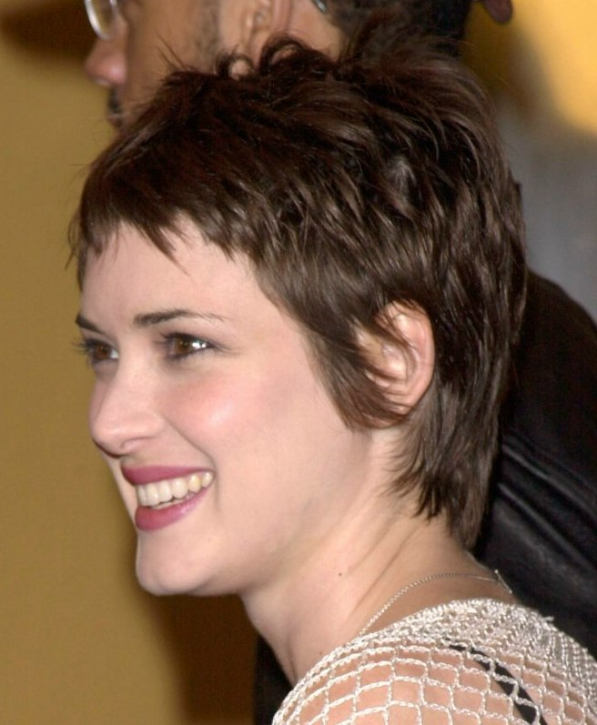 Winona Ryder Sweet Pixie Cut For A Heart Shaped Face